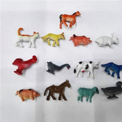Cheapest 2 Inch Pvc Animal Toys Farm Animals Capsule Toy
