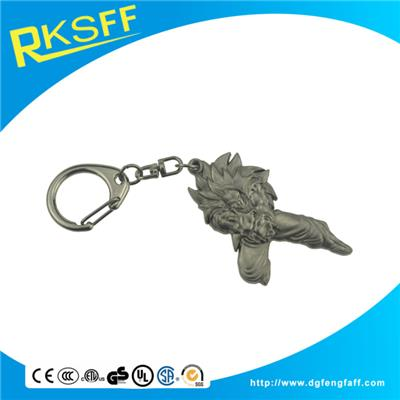 Zinc Alloy Cartoon Keychain