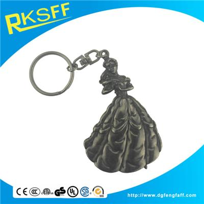 Zinc Alloy Dancer Keychain