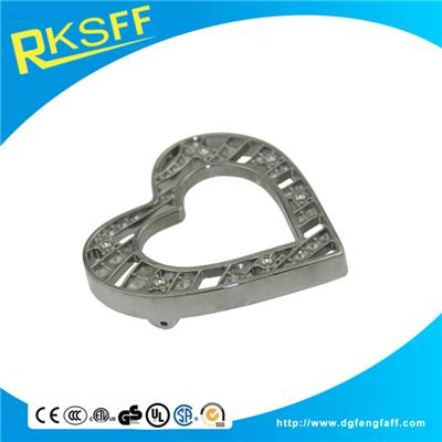 Zinc Alloy Heart-shaped Belt Buckle