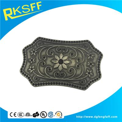 Zinc Alloy Pattern Belt Buckle