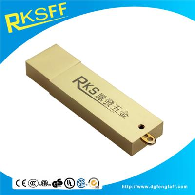 Aluminium Alloy Gold Square USB Shell