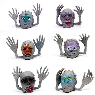 Plastic Capsule Toy Monster Finger Puppet For Children