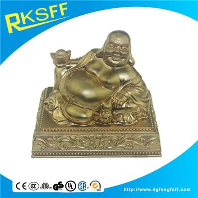 Zinc Alloy Golden Buddha