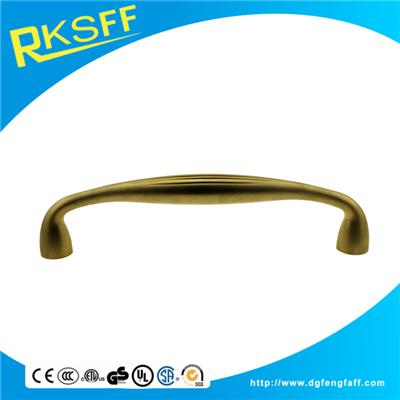 Zinc Alloy Brass Arc Door Handle