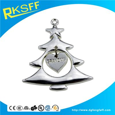 Zinc Alloy Christmas Trees Hanging Ornament
