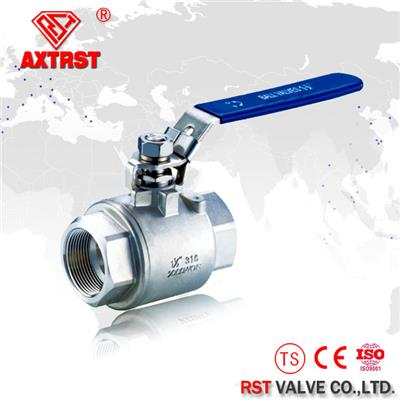 Two Piece High Pressure 2000WOG Stainless Steel Floating Ball Valve