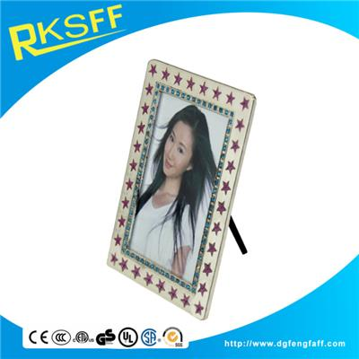 Zinc Alloy Star Silver Photo Frame