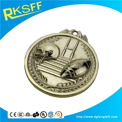 Zinc Alloy Rugby Gold Medals