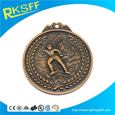 Zinc Alloy Skiing Copper Medals