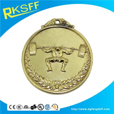 Zinc Alloy Weightlifting Gold Medals