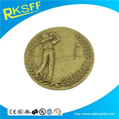 Zinc Alloy Golf Gold Medals