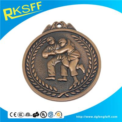 Zinc Alloy Wrestling Copper Medals