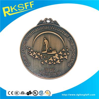 Zinc Alloy Woodball Copper Medals