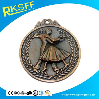 Zinc Alloy Dancing Copper Medals