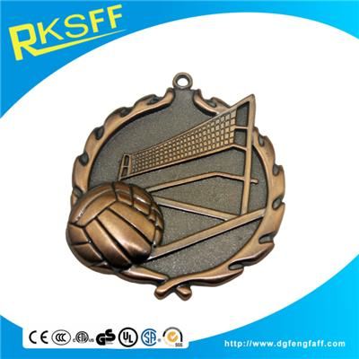 Zinc Alloy Volleyball Copper Medals