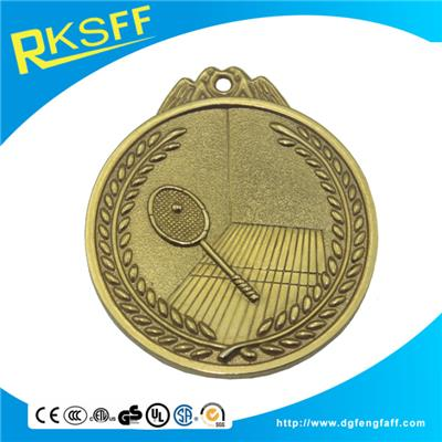 Zinc Alloy Tennis Gold Medal