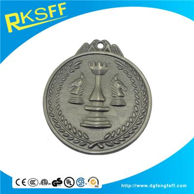 Zinc Alloy Chess Silver Medals
