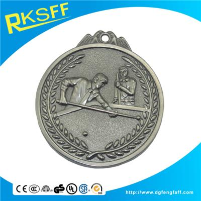 Zinc Alloy Table Tennis Silver Medals