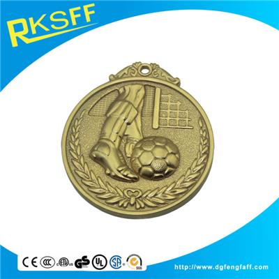 Zinc Alloy Football Gold Medals