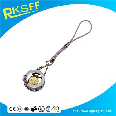 Zinc Alloy Cage Mobile Phone Hanging Ornament