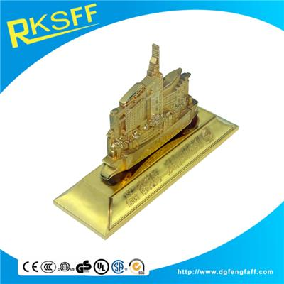 Zinc Alloy Gold Buildings 50 Anniversary Souvenirs