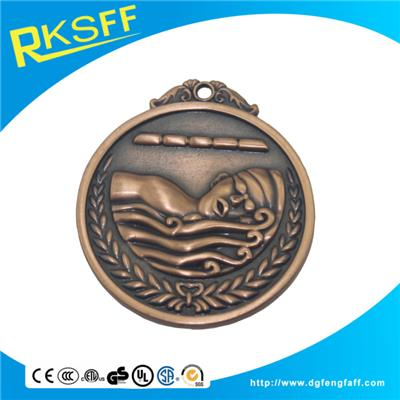 Zinc Alloy Swimming Copper Medals