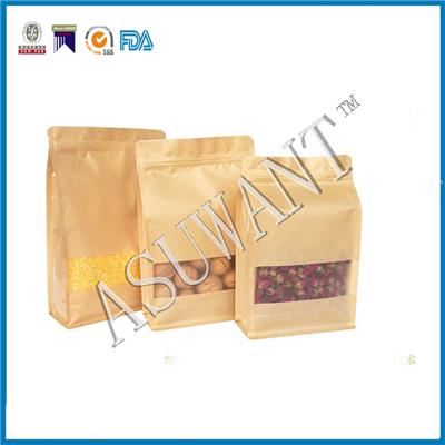 Resealable Kraft Paper Bag With Window