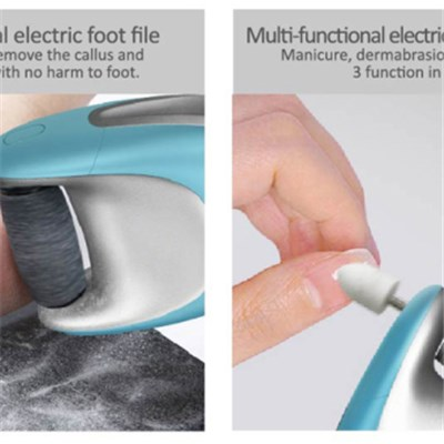 New hot rechargeable Callus remover foot callus remover electric callus remover with 2 replaceable rollers