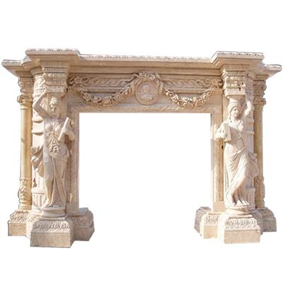 Carved Fireplace