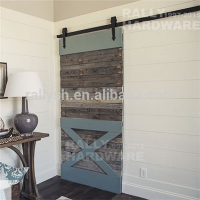 Complete Set Steel Rail Sliding Barn Door Hardware