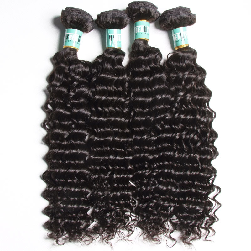 100% remy hair brazilian deep wave hair weave