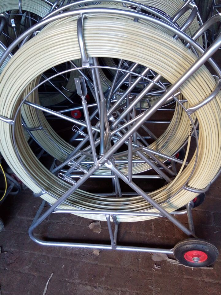 10mm x 490' Duct Rodder Fish Tape / Wire Cable Rod Fishtape Puller