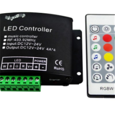 RGBW Audio Controller With RF 24 Key Remote