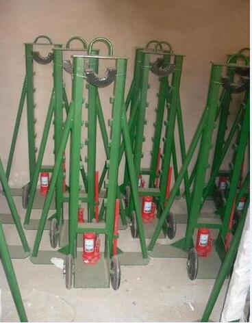 hydraulic adjustable cable stand