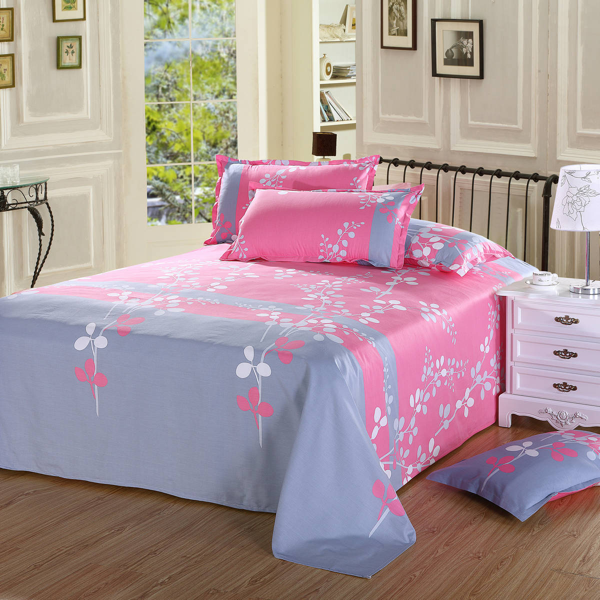 100% cotton pinting bed sheets for home