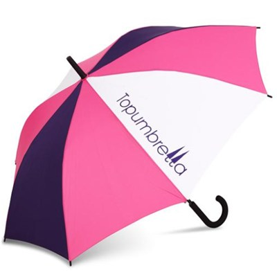 Auto Open Straight Umbrella Match With Different Color Fabric