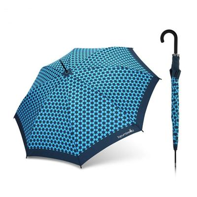 Auto Open Straight Umbrella With Pattern