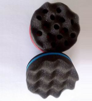 Round Shape Hair Twist Sponge