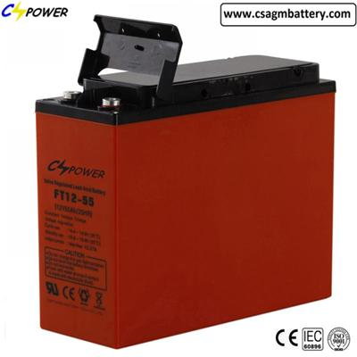 AGM Battery 12V55ah Deep Cycle Front Terminal AGM Battery