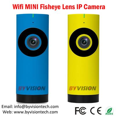 Wireless Fisheye Panoramic IP Camera Iphone and Andriod phone APP view