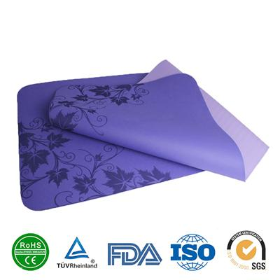 Custom Color Printing TPE Yoga Mats Safety Mats For Yoga Exercise