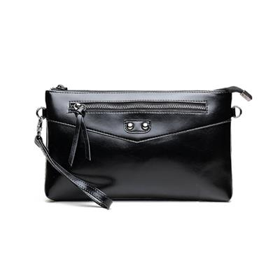 Ladies Genuine Leather Clutch Bag With Black Color