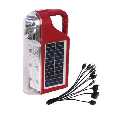 Multifunction Solar Flashlight 6 LED Camping Lantern