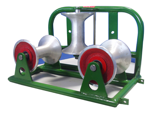 Aluminum Nylon Triple cable pulley