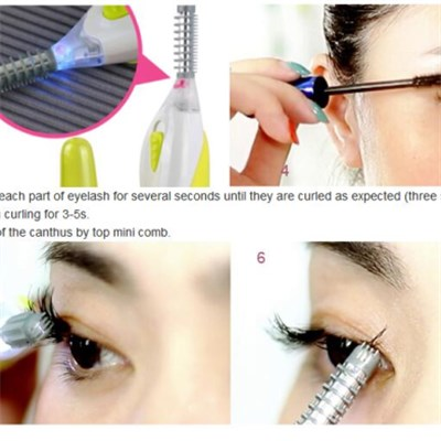 2 level LED plastic Electric Heated Eyelash Curler