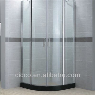 Modern Sliding Frosted Glass Bathroom Door