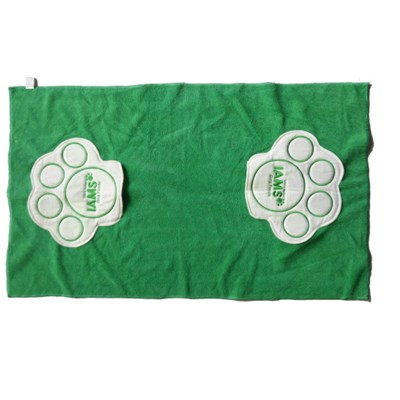 Dogfoot Prints Drying Towel With 2 Pockets Embroidery