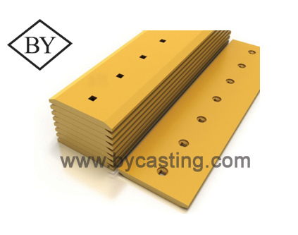 Heavy equipment replacement parts Double bevel cutting edge for Caterpillar bulldozer