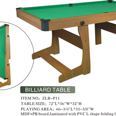 Practical Foldable MDF Billiard Table